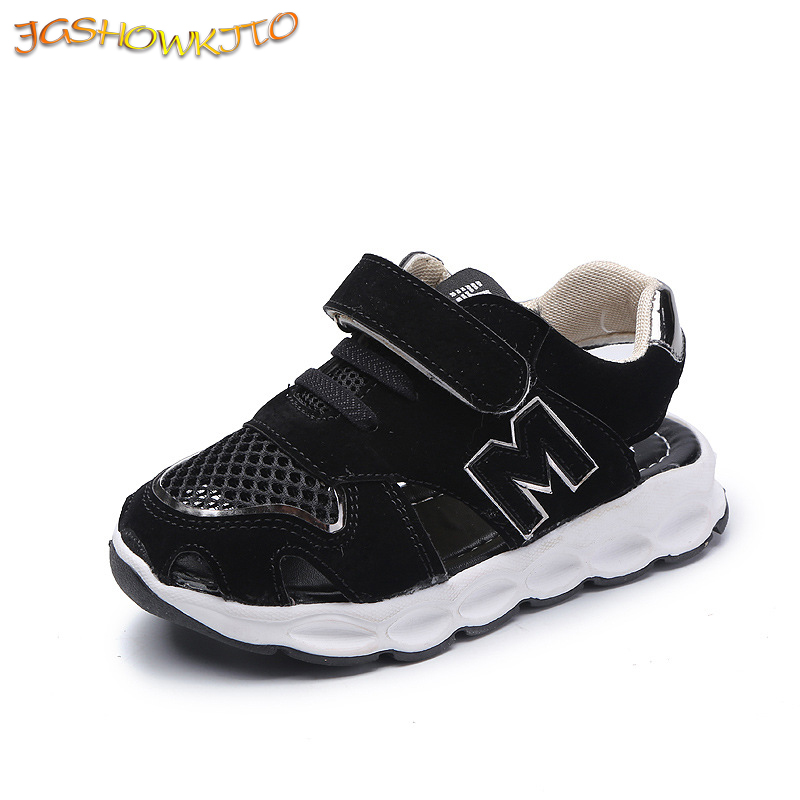 Fashion Kids Shoes For Toddlers Boys Girls 2020 Summer Children Beach Sandals Air Mesh Cut-outs Breathable Sports Running Shoes