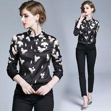 Женская винтажная блузка zuoman с цветочным принтом на весну