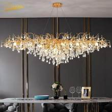 Nordic LED Luxury Chandelier Lighting Living Room LOFT Restaurant Kitchen Crystal Hanging Lamps Hotel Ceiling Chandeliers Lamp