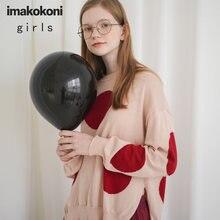 Розовый вязаный свитер imakokoni оригинальный дизайн одежда