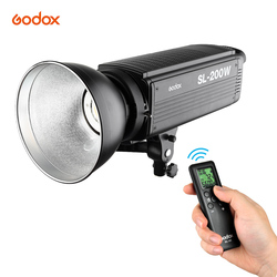 Photography Godox SL200W 5600K 200W LED Video Light Wireless Remote Control with Bowens Mount for Studio Video White Version