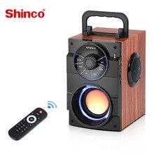 Alto falante estéreo sem fio shinco boombox caixa de centro de música portátil subwoofer música alto falante com rádio fm, aux, usb