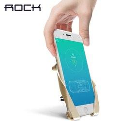 Rock uchwyt samochodowy uchwyt na telefon samochodowy uchwyt na uchwyt do otworu wentylacyjnego uchwyt na telefon komórkowy stojak dla iPhone 6s 7 8 Plus XS Max XR dla Huawei/xiaomi