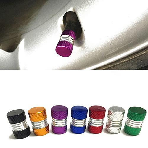 4Pcs/Set Universal Aluminum Alloy Tire Tyre Bright Color Air Valves Stems Cap Hot Car Wheel Tires Valves Tyre Stem Air Caps
