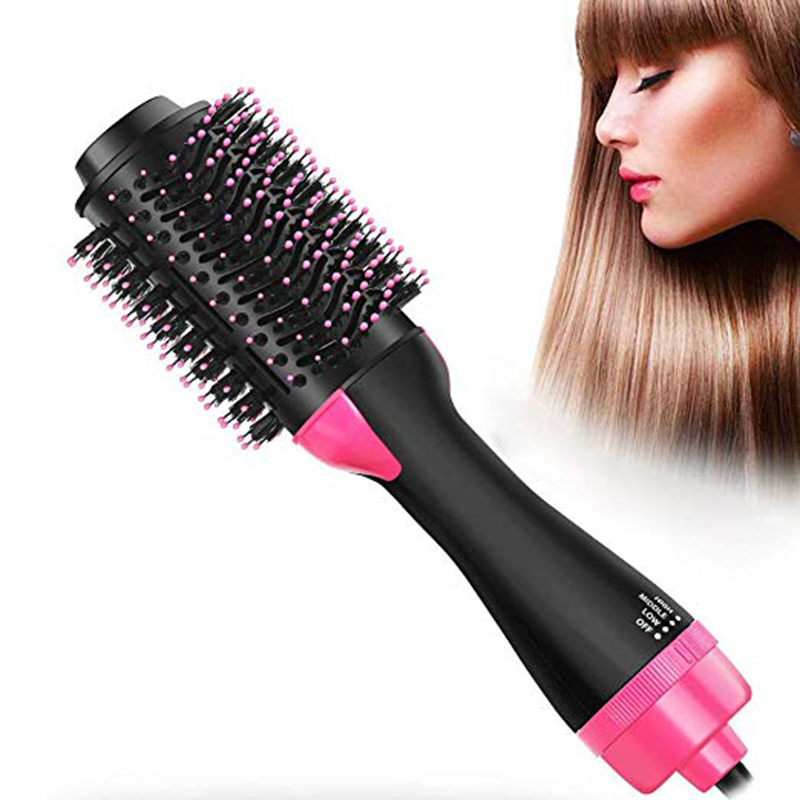 Hair Dryer Brush & Hot Air Brush 3 In 1 Electric One Step Hair Dryer Negative Ion Curling Dryer Straightening Dryer Brush