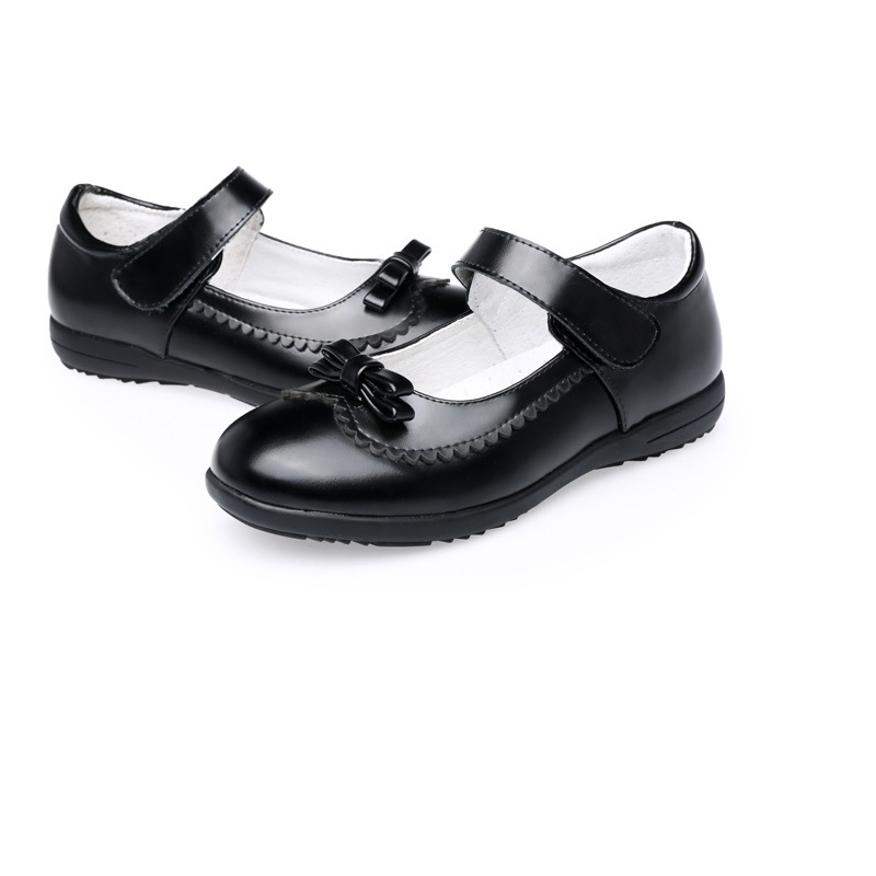 Children's real leather Shoes Anti-slip black Kids <font><b>Girls</b></font> Soft British Party Student Shoes Sandals <font><b>dress</b></font> shoes 5 to <font><b>15</b></font> <font><b>years</b></font> <font><b>old</b></font> image