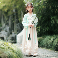 H2490 Girls Hanfu Chinese Traditional Dress Children Tang Suit Ancient Fairy Costume Summer Han Tang Dynasty Princess Dresses