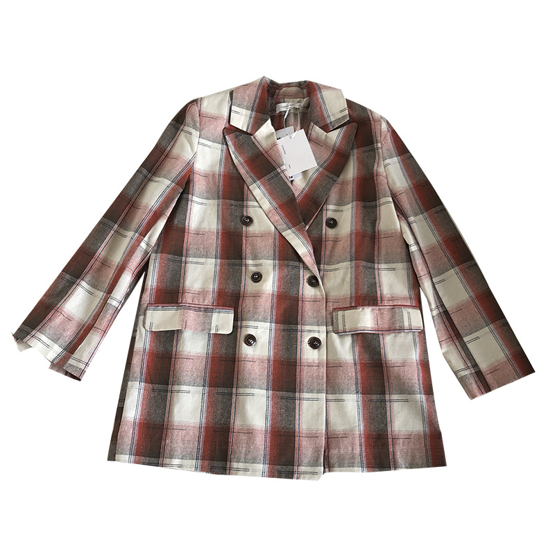 Women's Plaid Suit Jacket