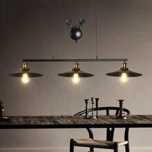 3 головки Ретро Лофт Люстра для гостиной столовой подвесной
