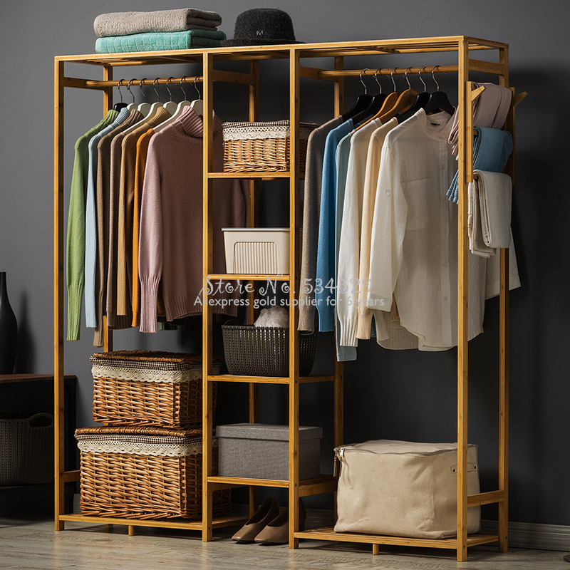 30%A1 Modern Wardrobe Multifunction Storage Rack Orgnizer Floor Shoe  Large Capacity Clothing Hanger Coat Home Furniture