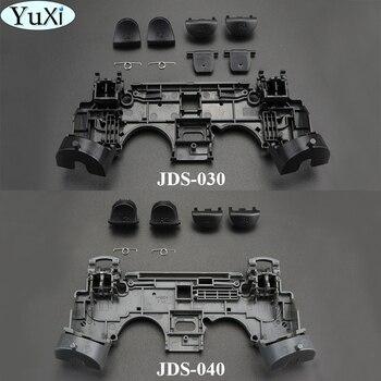 Juego de 2 teclados YuXi de goma de repuesto para botones adhesivos con conductor de silicona para Sony PS4 para controlador PlayStation DualShock 4