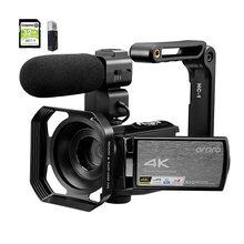 Videocamera videocamera digitale 4K per rugby, Ordro AE8 IR Night Vision WiFi v(camera con microfono scheda di memoria da 32GB