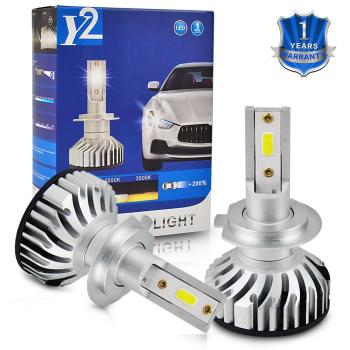 Car Headlight H7 LED Bulb Auto Headlamp COB Chips 6500K 6000LM 50W 12V For BMW 3 Series E36 E90 E91 F30 F80 3 Gran Turismo F34 image