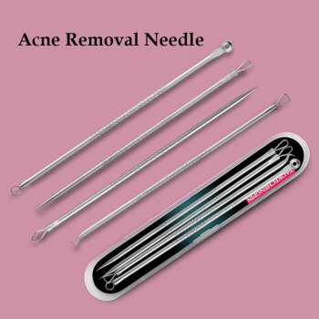 4pcs/Set Acne Removal Needle Stainless Steel Pimple Blackhead Remover Tool Blemish Face Skin Care Beauty Facial Pore Cleaner