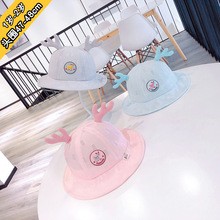 47-48cm 1y-2y Deer ear baby soft breathable sun-shade net cap  girls hat toddler winter boys hats kids beanie