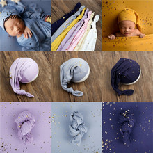 Children Photography Props Wrap 40x170cm Newborn Photography Starry Sky Pointy Hat Photo Studio Shooting accessories cheap Jane Z Ann CN(Origin) 0-6m COTTON Polyester Fitted Unisex Print baby 0-3 months newborn baby photo props