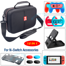 For Nintend Switch Accessories EVA Hard Carrying Bag&TPU Soft Case Cover&Handle Grip Stand for Nintendo Switch NS Console