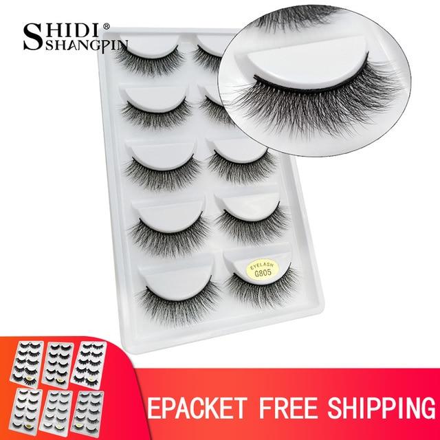 50 pairs Mink Lashes 3D Mink Eyelashes 100% Cruelty free Lashes Handmade Reusable Natural Eyelashes False Lashes Makeups G805 1