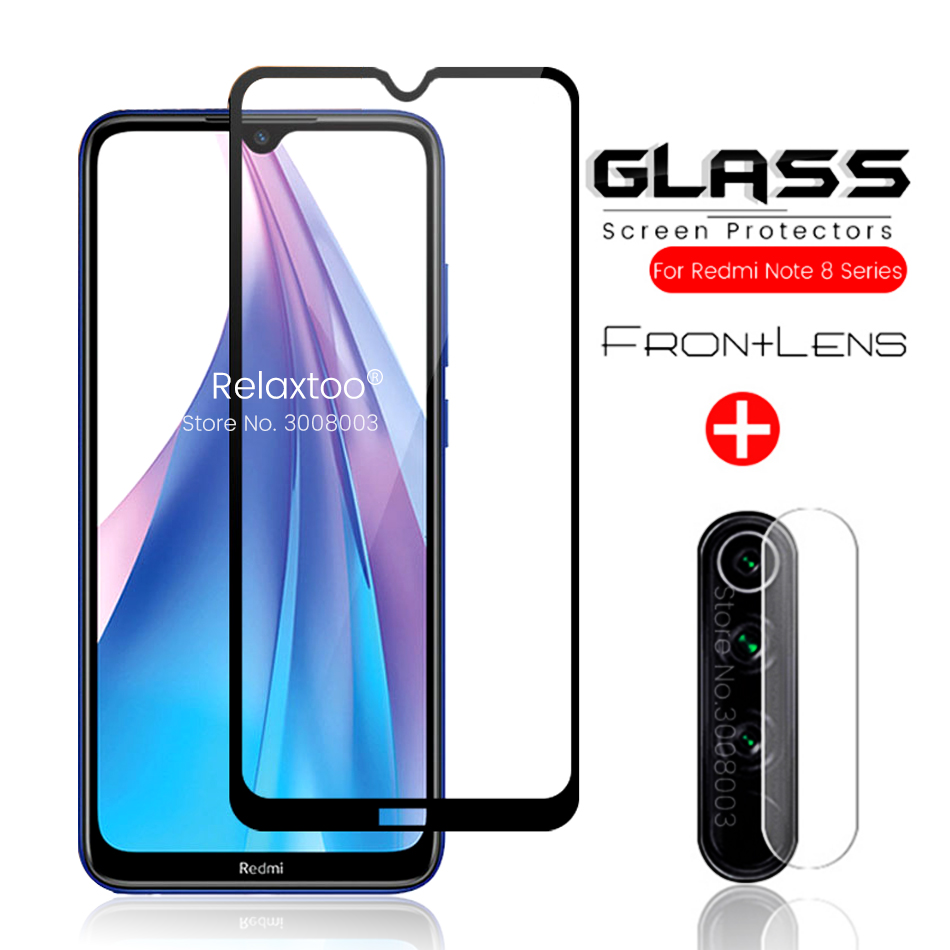 2-in-1 Armor Protection Glass For Redmi Note 8t 8 T Camera Glasses For Xiaomi Redmi Note 8 Pro Note8 Note8t Safety Film Redmi8a