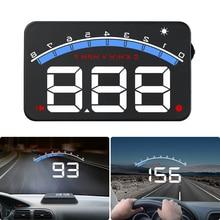 цена на OBD2 HUD Car Head Up Display 3.5 Projector Glass Vehicle Auto Digital Car Driving Data Display Speed RPM Water Temperature HUD