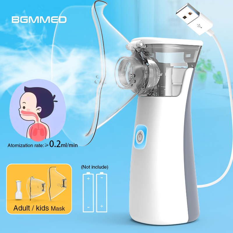 BGMMED Handheld Medical Nebulizer equipment Asthma Portable inhaler Atomizer inhalator for kids mini nebulizador-in Steaming Devices from Beauty & Health
