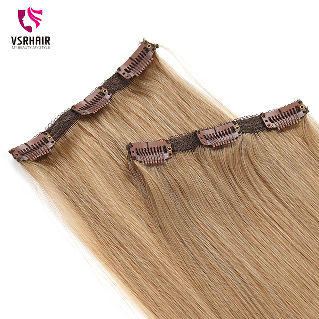 VSR Remy Human Hair 3pcs Clips Machine Made Clip In Hair Extension 1