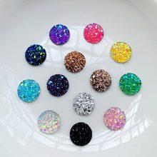 Diamantes de imitación de resina natural para decoración de uñas, joyería con parte trasera plana de 8mm/10mm/12mm