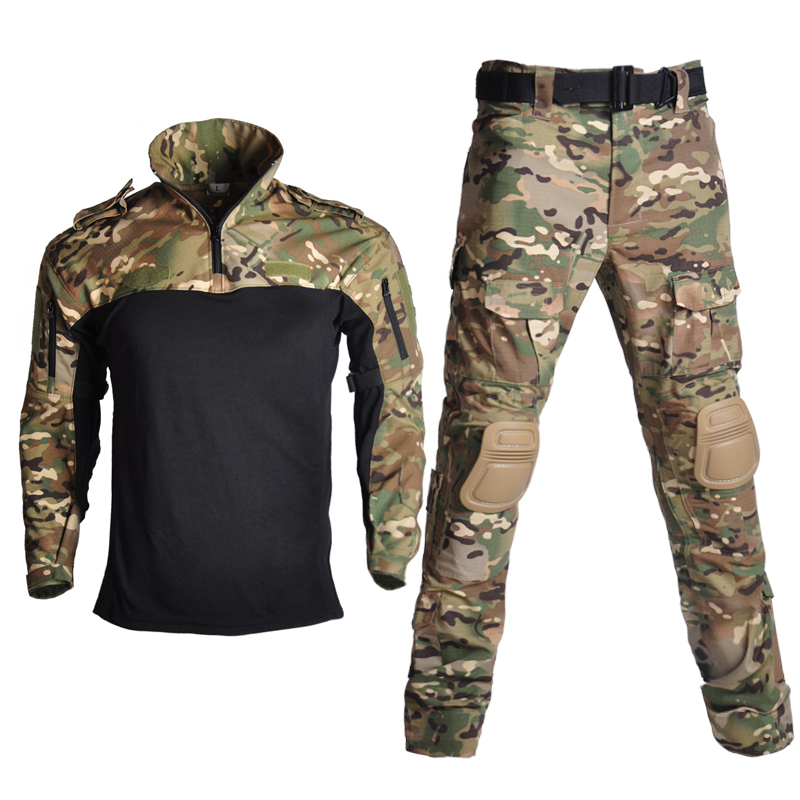 Hiking Military Airsoft Uniform Tactical Suits Camouflage Hunting Clothes Paintball Sniper Combat ShirtPants