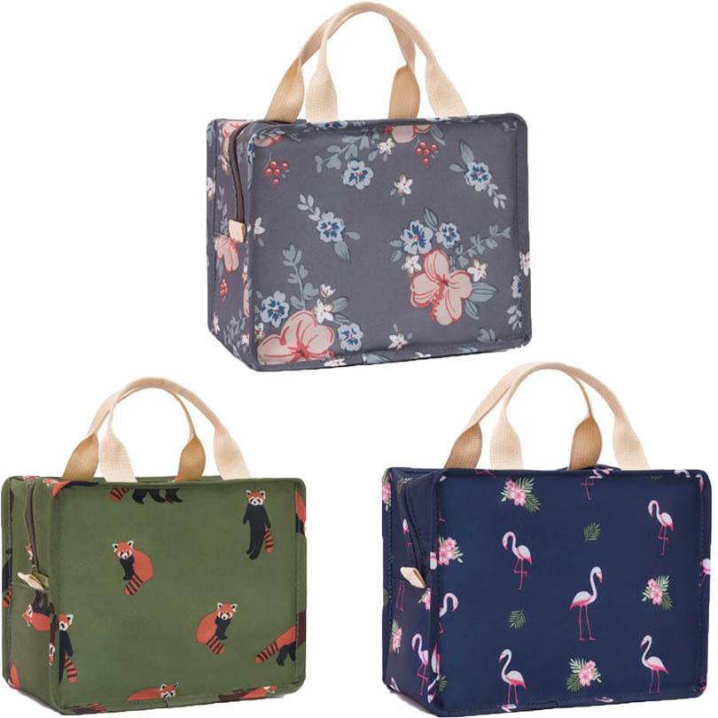 Portable Insulated Thermal Cooler Bento Lunch Box Picnic Storage Bag Pouch Food Lunch Bags Insulation Organizer Tote Accessories