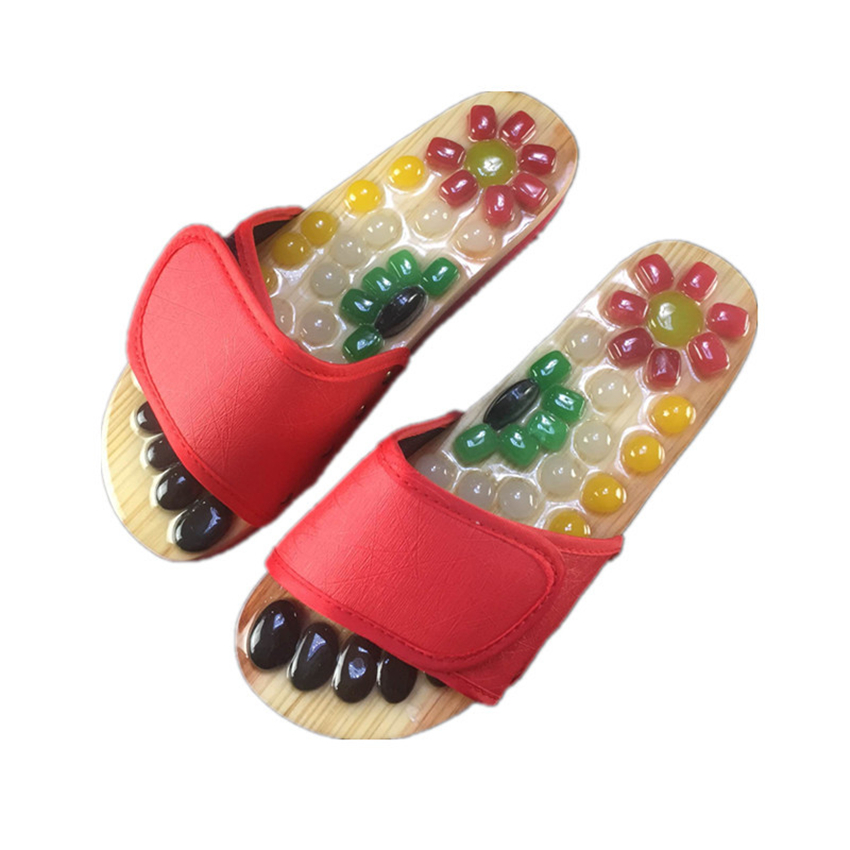 Massage Shoes Mens Slides Cobblestone Accupressure Foot Indoor Chinese Medicine Pedicure Acupoint Healthcare Flat Slippers|Slippers|   - AliExpress
