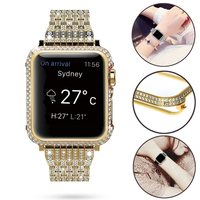 Slim Watch Cover For apple watch case diamond with drill Screen Protector for iwatch 4 Amazon ebay hot sale for woman