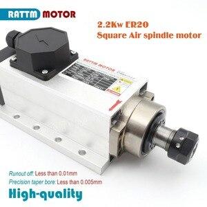 Image 4 - DE Square 2,2 кВт двигатель шпинделя с ЧПУ с воздушным охлаждением 220 В 24000 об/мин ER20 4 подшипника и инвертор Fuling VFD 220 В 4 шт. ER20 качественный цанговый патрон