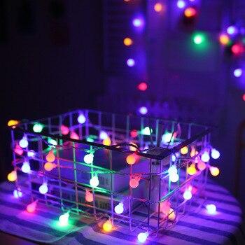 Свадебный декор, гирлянда, светодиодная гирлянда на батарейках, Рождественская светодиодная гирлянда с шариками, украшение для елки, праздничное уличное освещение