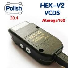 2020 Popolar Wesheu Vcemd Vag com HEXAGONALE Interface V2 VAGCOM 20.4.2 VAG COM 20.4 POUR VW pour AUDI Skoda Siège ATMEGA162 + 16V8 + FT232RQ