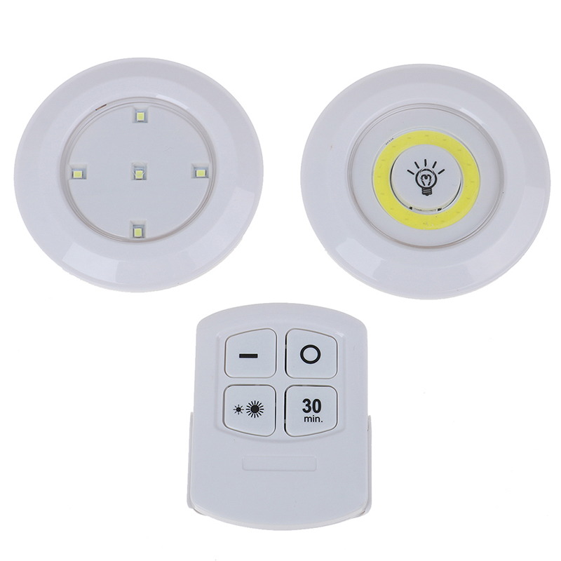 LED Under Cabinet Light COB Lamp Dimmable Remote Control Wireless Lights Supply