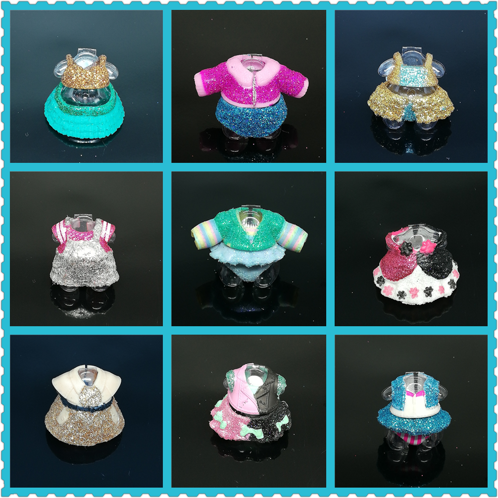 Original L.O.L. SURPRISE! LOLs Doll Clothes Dresses For 8cm Doll Glitter Accessories Figure Toys Limited Collection Girls Gift