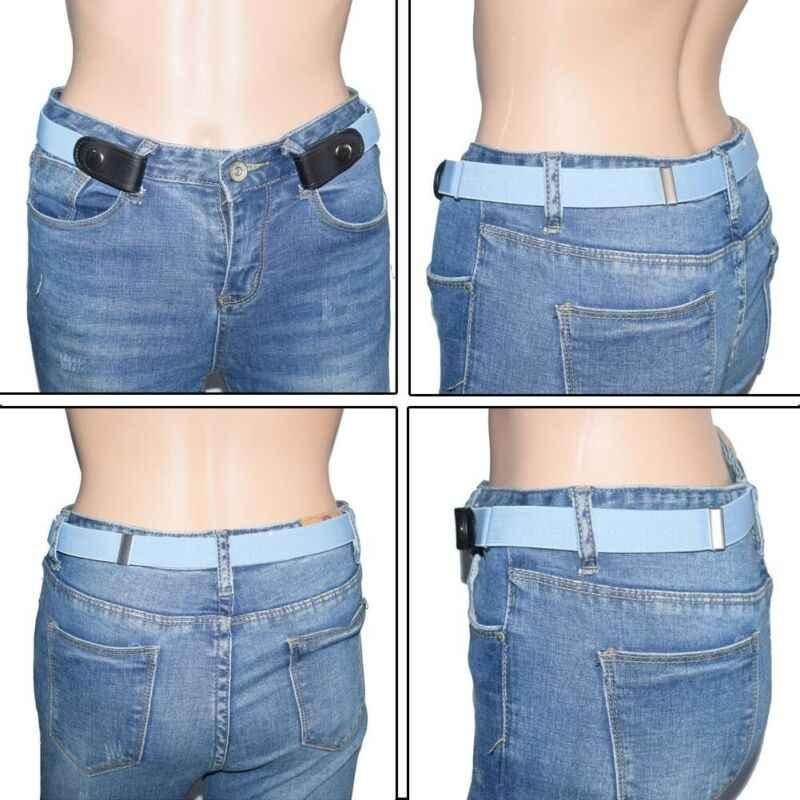 حار بيع المرأة الشرير نمط مشبك حزام اللباس السيدات ضئيلة الرياضية الاتجاه مريحة مرونة جديد لا مشبك حزام