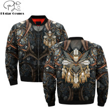 Native Indian wolf löwe tiger 3D herren bomber jacken Hoodie Männer Frauen New Fashion Zipper Mit Kapuze Langarm Pullover stil-7(China)