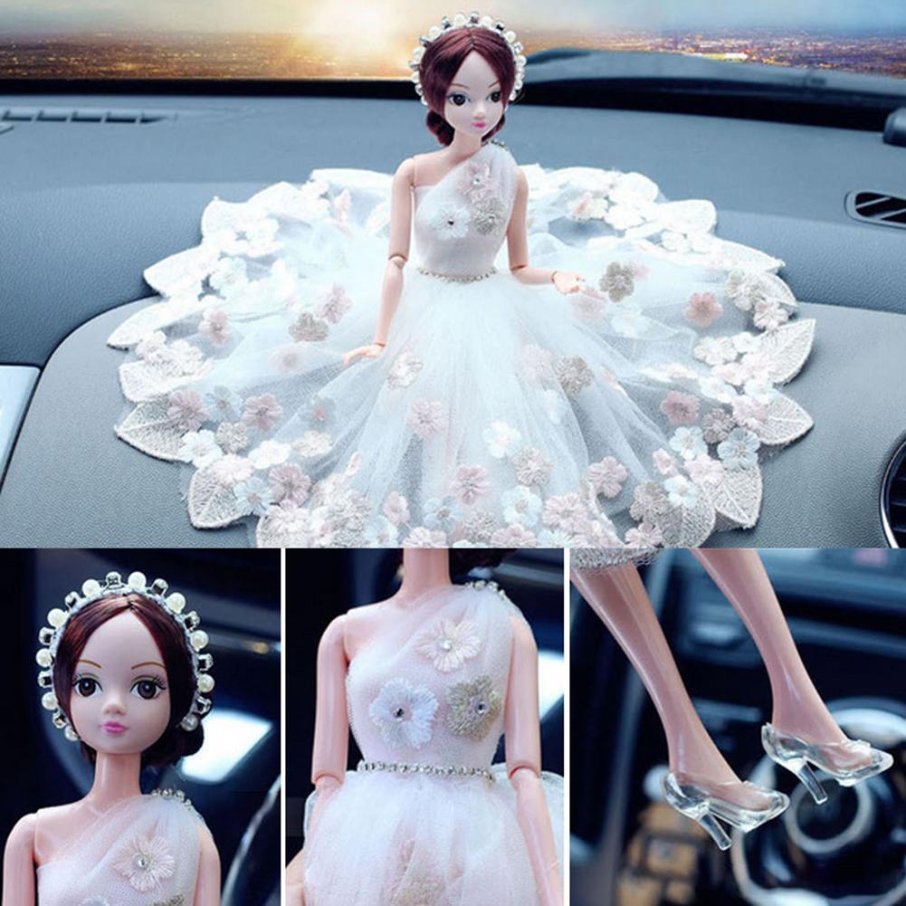 Cute Wedding Bride Dolls Decor Auto Decorations Interior Display Ornament Accessory Gift Car Interior Accessories Ornaments