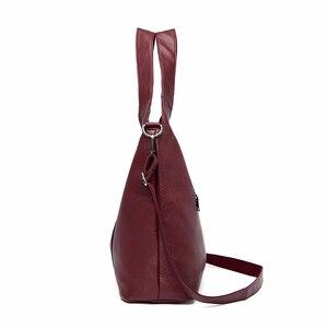 Image 2 - 2/S 女性レザーハンドバッグ高品質の財布やハンドバッグ 2019 女性ソフトレザーショルダーバッグメイントートバッグ女性