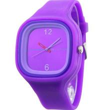 Men Women Jelly Watch Women Fashion Square Dial Jelly Silicone Watch