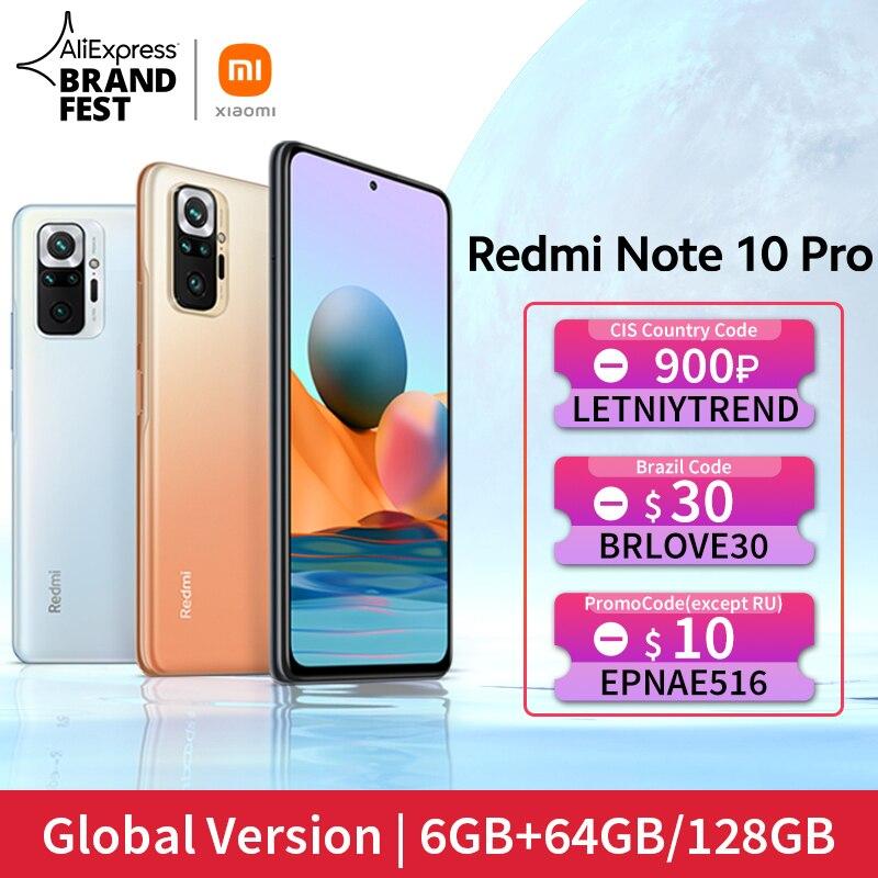 [Мировая премьера В наличии] Глобальная версия Xiaomi Redmi Note 10 Pro Смартфон 108Мп Камера Snapdragon 732G 120Гц AMOLED Дисплей