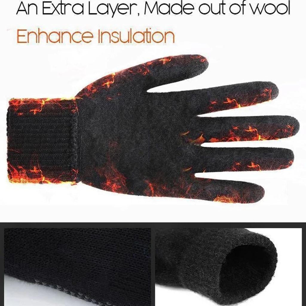 Winter Touch Screen Gloves Men Warm Sports Outdoor Waterproof Extra-Insulated Touchscreen Gloves перчатки без пальцев Thicken