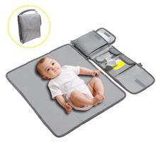 Коврик для переодевания малыша водонепроницаемая сумка для мамочки детская коляска складная Узорчатая пеленка многоразовые трусики-подгузники сцепления для Отдых Путешествия