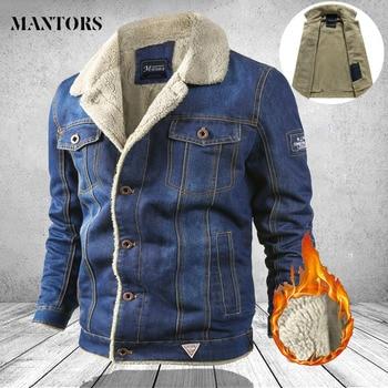 Men Jeans Jackets, Thick Man Turn Down Collar, Denim Coat Male, Fashion Solid Blue Denim Mens Clothes, Plus Size 1