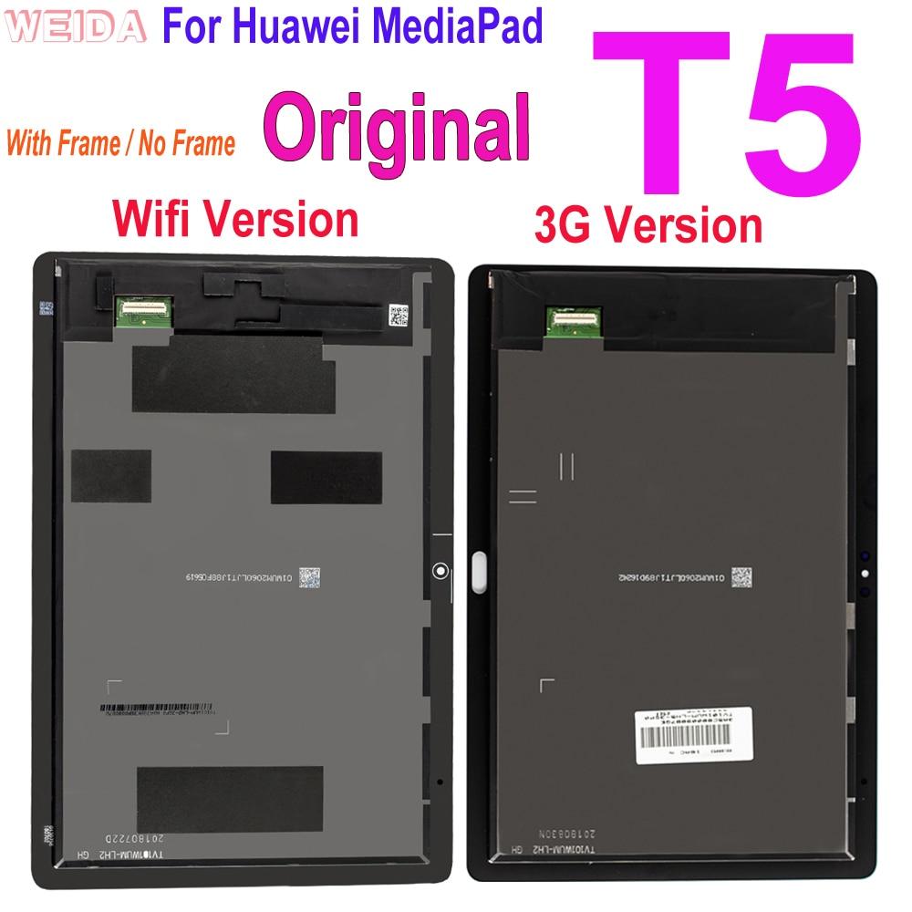 Оригинальный ЖК-дисплей для Huawei MediaPad T5, 10,1 дюйма, ЖК-дисплей с дигитайзером сенсорного экрана в сборе для Huawei MediaPad T5, AGS2-L09, с ЖК-экраном, с цифр...