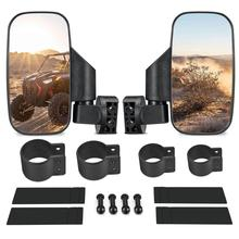 """UTV Rearview Mirror Shockproof Side Mirror Accessories w/ 1.75"""" 2"""" Roll Cages for can am For Polaris RZR 800 900 1000 for Yamaha"""