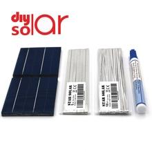 DIY GÜNEŞ PANELI 20 25 30 40 50 Watt 26 39 52 78 156 mm şarj kiti Polycrystall güneş pili sekmesi tel bara akı kalem