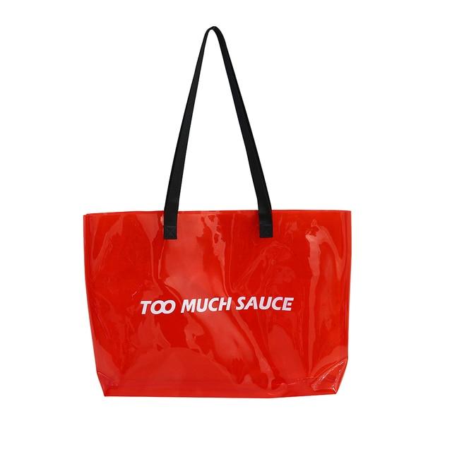 Tote Bags Environmentally Purse Shoulder Plastic Bag PVC Transparent Handbag