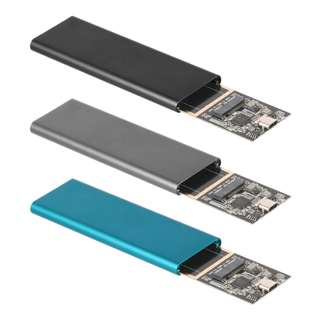 USB3.1 Type-C To M.2 NVMe PCIE SSD Box Solid State Drive HDD Enclosure Case 2 Cables 10Gbps M2 PCI-E M/M&B Key Support 4TB 2280